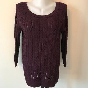 American Eagle Cable Knit Sweater Wool Blend